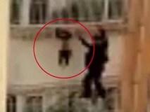 Bé trai 4 tuổi kẹt đầu vào 'chuồng cọp', lơ lửng trên chung cư cao tầng