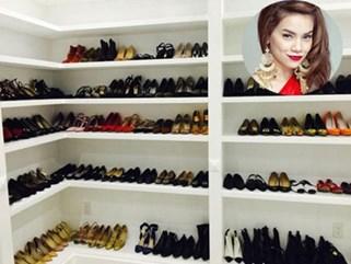 Khám phá tủ giày hàng hiệu của dàn sao Việt