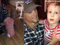 Không tay chân, bé trai 3 tuổi nhích từng bước ôm chầm lấy bố khiến ai cũng xúc động