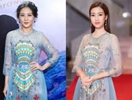 'Đụng hàng' váy với Hoa hậu Đỗ Mỹ Linh, nhưng Văn Mai Hương lại già hơn hẳn vì chọn nhầm phụ kiện kiểu... quý bà