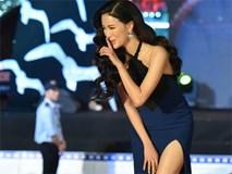 MC suýt ngã trên thảm đỏ Liên hoan phim Việt Nam vì váy xẻ cao