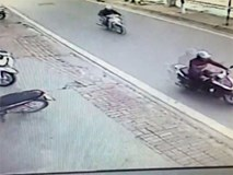 Trộm phá khóa xe Lead nổ máy tẩu thoát trong vài giây