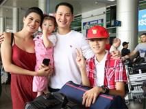 Ông xã Trang Trần về nước mừng sinh nhật con gái đầu lòng