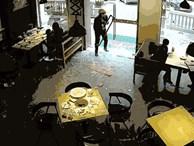 Hành động như trong phim Hollywood, chàng shipper méo mặt vì lỡ phá tan cửa nhà hàng