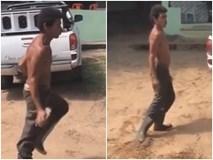 Clip: Không thể rời mắt với màn nhảy cực chất của anh công nhân da đen