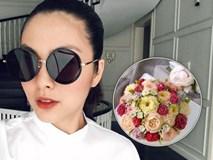 Lần đầu trổ tài làm bánh kem, Hà Tăng khiến fan xuýt xoa vì quá khéo tay