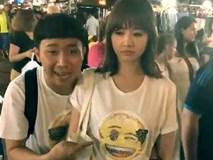 Hari Won mặt sưng xỉa khi đi du lịch cùng Trấn Thành và bạn bè