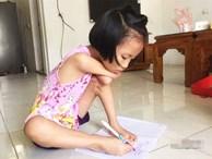 Cô bé không tay học chữ qua ô cửa sổ, ngày ngày tập viết khiến chân rướm máu