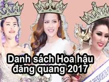 Cấp báo: Số lượng Hoa hậu đăng quang đã lên đến con số 7!