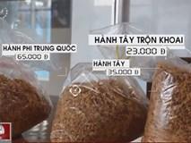 Rợn người công nghệ sản xuất hành phi bẩn từ khoai tây mọc mầm, hành tây thố