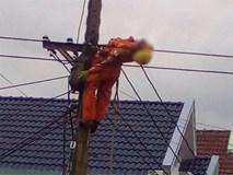 Một thợ điện bị giật bất tỉnh khi đang sửa đường dây