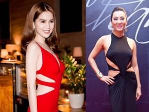 Hồ Ngọc Hà và loạt sao Việt mặc váy khoét eo đẹp nức nở, nhìn sang HH Thuỳ Dung, Kỳ Duyên thì chán hẳn
