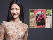 Hoàng Thùy khoe khả năng hội họa, trổ tài vẽ hoa dâm bụt ấn tượng