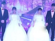 Đám cưới sinh đôi khiến khách mời choáng váng không phân biệt nổi cô dâu, chú rể