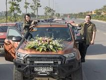 Màn báo hỷ bằng 50 xe bán tải cực chất tại Hà Nội