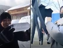 Mùa đông lạnh đóng băng cả quần ở Trung Quốc khiến nhiều người không thể tin nổi