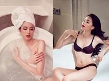 Ngỡ ngàng với loạt ảnh sao Việt thi nhau bán nude trong bồn tắm