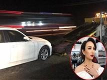 Hoa hậu Ngọc Diễm bị tai nạn, thiệt hại khoảng 100 triệu đồng