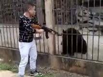 Người đàn ông giương súng bắn chết gấu đen bị nhốt trong lồng gây phẫn nộ cộng đồng mạng Trung Quốc