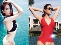 Suốt năm 2017, Phạm Hương âm thầm soán ngôi 'Nữ hoàng nội y' của Ngọc Trinh?