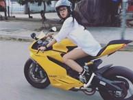Cô gái Huế dịu dàng cưỡi motor vàng nửa tỷ dạo phố là tâm điểm MXH