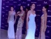 """Bị đối thủ giẫm lên váy, tỏ thái độ tại Hoa hậu Hoàn vũ, đây là cách xử lý """"cao tay"""" của Mâu Thủy?"""