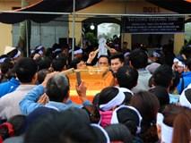 Tang lễ Chủ tịch huyện Quốc Oai tại quê nhà