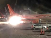Hai máy bay va chạm gây bén lửa tại sân bay ở Canada