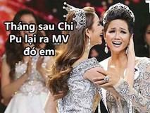 """Biểu cảm lúc đăng quang không rõ """"cười hay mếu"""" của Tân hoa hậu Hoàn vũ H'Hen Niê lại thành nguồn chế ảnh bất tận!"""