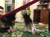 Trò chơi 'độc quyền' ngày đông chỉ những gia đình có con gái nuôi tóc dài, bố mẹ 'lầy lội' mới có