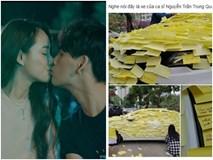 Ghen tuông với Nhã Phương, fan cuồng dán giấy đầy xe của Nguyễn Trần Trung Quân để tỏ tình