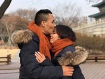 MC Nguyễn Hoàng Linh ngọt ngào hôn bạn trai ở Hàn Quốc