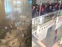 Video: Ban công sập bất ngờ, người rơi như sung xuống đất ở Indonesia