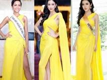 """Kể từ khi đăng quang, từ Hoa hậu H'Hen Niê cho đến 2 Á hậu Hoàn vũ cứ mải miết dùng lại """"đồ cũ"""""""