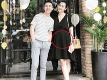 Lộ ảnh Tăng Thanh Hà mang bầu lần 3, tăng cân trông thấy, bụng to lùm lùm?
