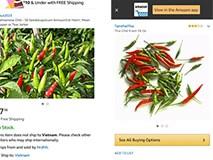 'Sửng sốt' với ớt Việt được rao bán trên Amazon 670.000 đồng/kg