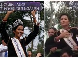 Hoa hậu H'Hen Niê gặp sự cố nhỏ ngày về quê nhà