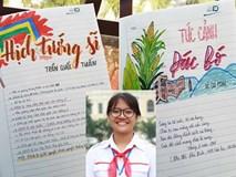 Cô học trò 'Phó Chủ tịch' biến vở viết thành bức tranh đầy màu sắc, ai nhìn cũng muốn học