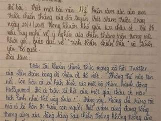 Xúc động bài Văn nữ sinh lớp 9 về chiến thắng của U23 Việt Nam