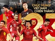 Tự hào quá Việt Nam ơi! Khoảnh khắc các người hùng tuyển U23 phấn khích ăn mừng cùng cổ động viên trên sân bóng