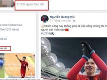 Facebook tiền vệ Quang Hải tăng 40.000 follower chỉ 2 tiếng sau trận bán kết thế kỷ