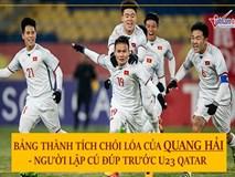 Bảng thành tích chói lóa của Quang Hải - người lập cú đúp trước U23 Qatar