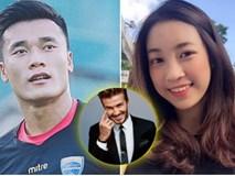 """""""Thả thính"""" với Hoa hậu Đỗ Mỹ Linh hơn mình 1 tuổi, Bùi Tiến Dũng liệu có trở thành một Beckham khác của Việt Nam?"""