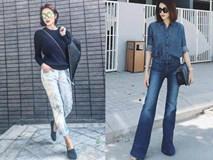 Không hổ danh ngọc nữ showbiz, Tăng Thanh Hà chỉ quần jeans vẫn đẹp