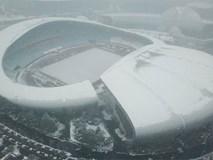 Tuyết phủ kín sân vận động diễn ra trận chung kết U23 châu Á