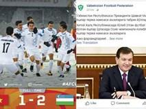 Liên đoàn bóng đá Uzbekistan đưa tin chiến thắng cả ngày chỉ có 67 lượt bình luận, 61 comment là của fan Việt Nam!
