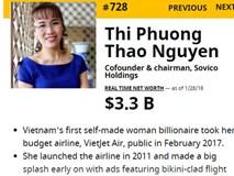 Cổ phiếu Vietjet Air giảm mạnh, nữ tỷ phú Phương Thảo vẫn yên vị