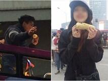 Nhặt được bắp ngô ăn dở của Văn Thanh U23, cô gái trẻ bối rối nhờ