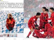 Netizen Trung khen ngợi không ngớt các nữ CĐV Việt Nam thu dọn rác sau trận chung kết bất chấp thời tiết lạnh giá
