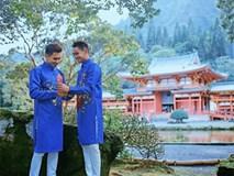 Hồ Vĩnh Khoa và bạn đời đồng giới diện áo dài đôi, chuẩn bị đón Tết